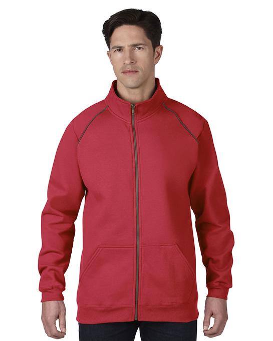 Bluza Premium Cotton Classic Fit Full Zip Adult GILDAN 92900 - Gildan_92900_04 - Kolor: Red / Charcoal