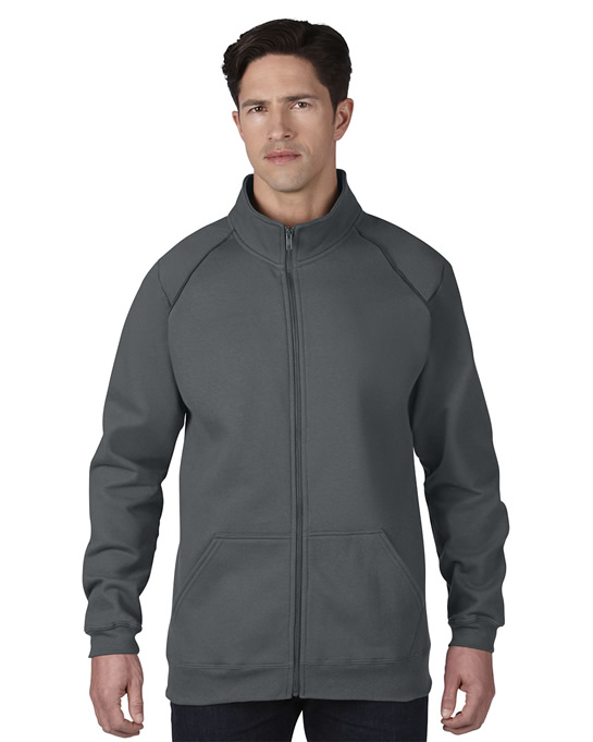 Bluza Premium Cotton Classic Fit Full Zip Adult GILDAN 92900 - Gildan_92900_02 - Kolor: Charcoal / Charcoal