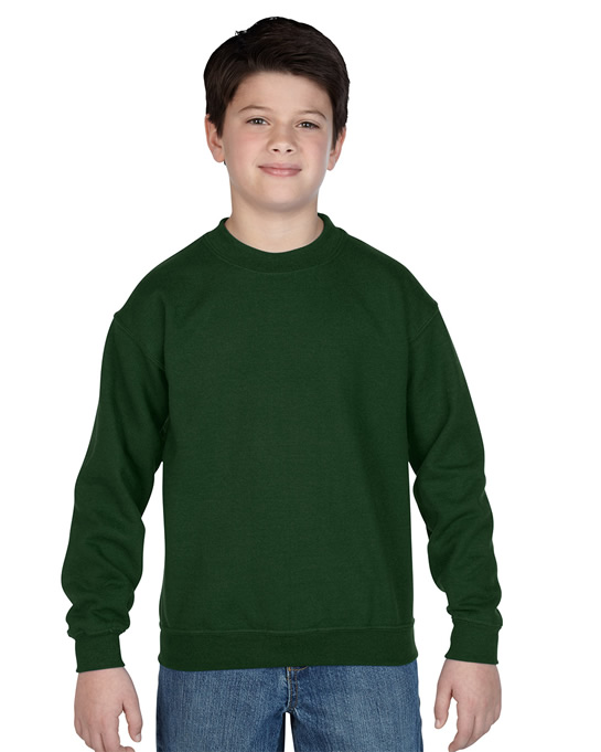 Bluza Heavy Blend Classic Fit Youth GILDAN B18000 - Gildan_B18000_04 - Kolor: Forest green