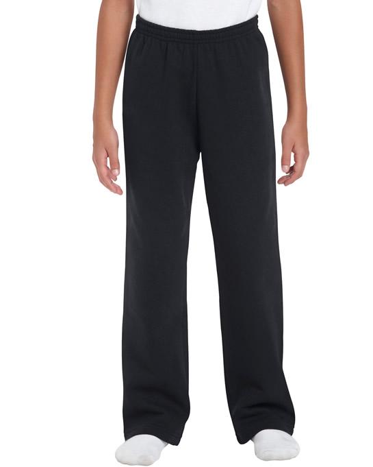 Spodnie Heavy Blend Open Bottom Youth GILDAN B18400 - Gildan_B18400_01 - Kolor: Black