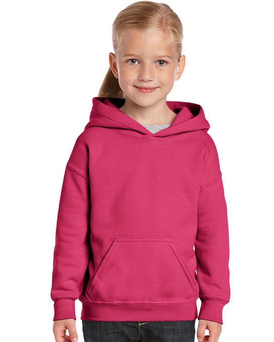 Bluza Heavy Blend Hooded Youth GILDAN B18500 - Gildan_B18500_06 - Kolor: Heliconia