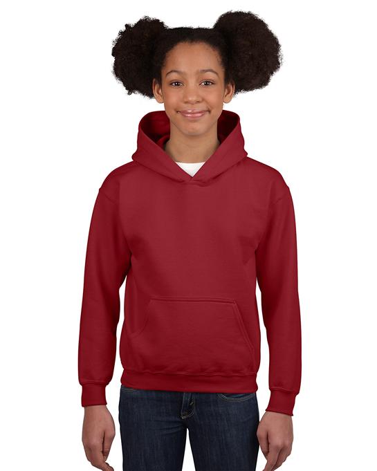 Bluza Heavy Blend Hooded Youth GILDAN B18500 - Gildan_B18500_04 - Kolor: Garnet