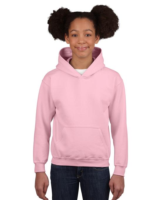 Bluza Heavy Blend Hooded Youth GILDAN B18500 - Gildan_B18500_09 - Kolor: Light pink