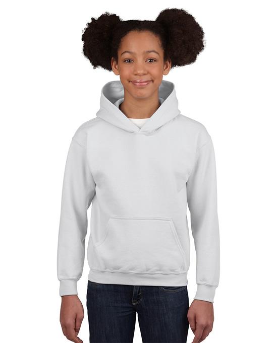 Bluza Heavy Blend Hooded Youth GILDAN B18500 - Gildan_B18500_16 - Kolor: White