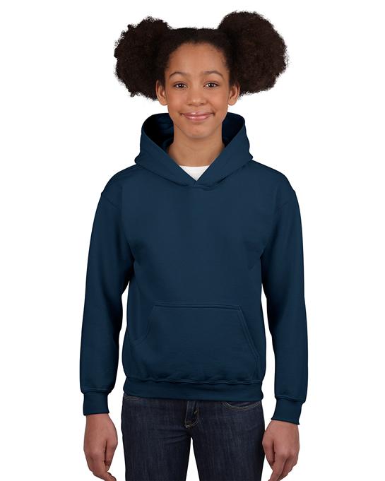 Bluza Heavy Blend Hooded Youth GILDAN B18500 - Gildan_B18500_11 - Kolor: Navy