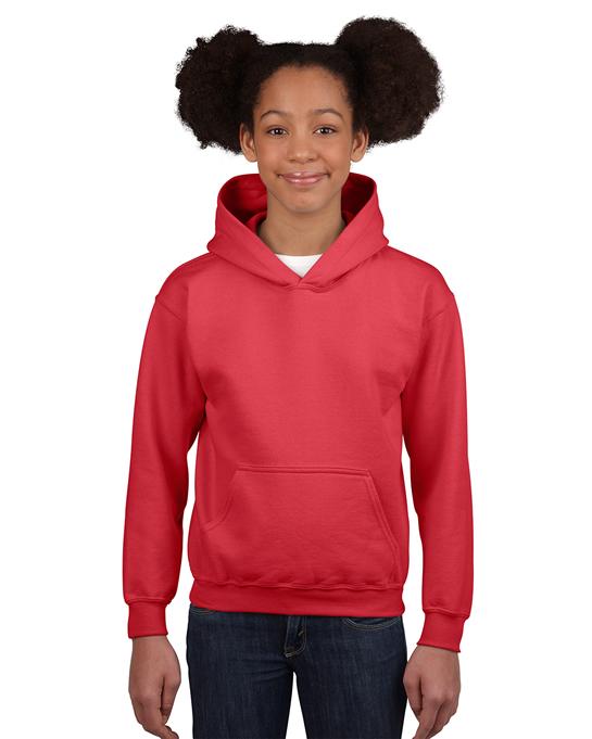 Bluza Heavy Blend Hooded Youth GILDAN B18500 - Gildan_B18500_13 - Kolor: Red