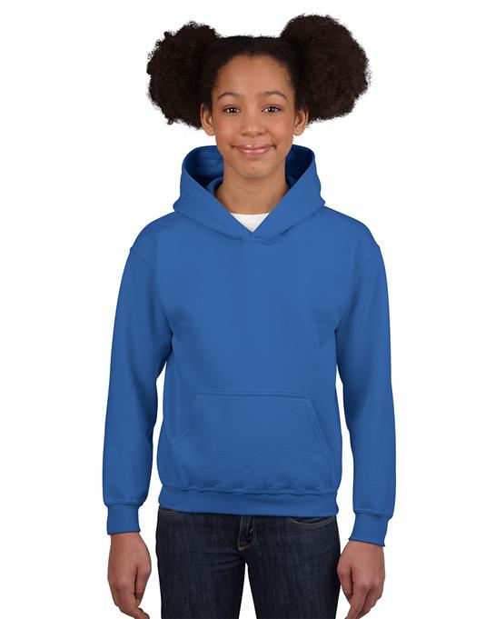 Bluza Heavy Blend Hooded Youth GILDAN B18500 - Gildan_B18500_14 - Kolor: Royal blue