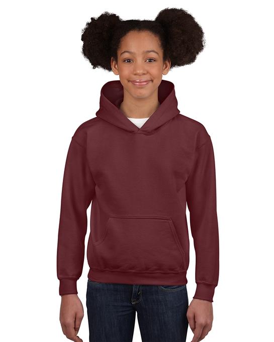 Bluza Heavy Blend Hooded Youth GILDAN B18500 - Gildan_B18500_10 - Kolor: Maroon