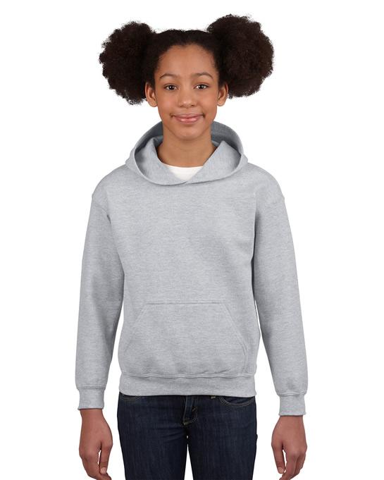 Bluza Heavy Blend Hooded Youth GILDAN B18500 - Gildan_B18500_15 - Kolor: Sport grey