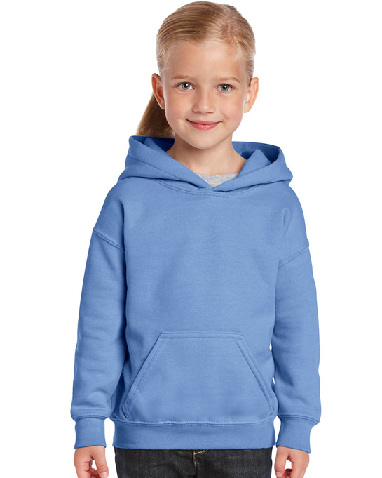 Bluza Heavy Blend Hooded Youth GILDAN B18500 - Gildan_B18500_08 - Kolor: Light blue