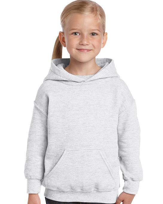 Bluza Heavy Blend Hooded Youth GILDAN B18500 - Gildan_B18500_01 - Kolor: Ash