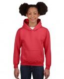 Bluza Heavy Blend Hooded Youth GILDAN B18500 - Gildan_B18500_13 Red