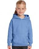 Bluza Heavy Blend Hooded Youth GILDAN B18500 - Gildan_B18500_08 Light blue