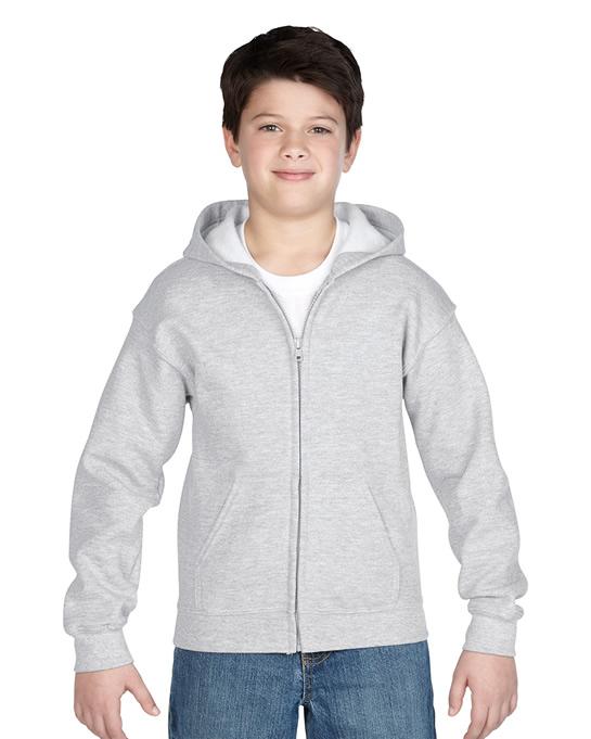 Bluza Heavy Blend Hooded Full Zip Youth GILDAN B1860 - Gildan_B18600_01 - Kolor: Ash