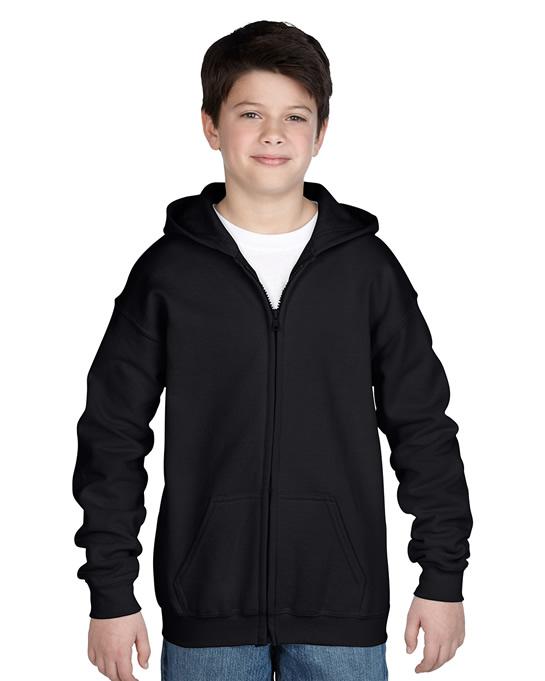 Bluza Heavy Blend Hooded Full Zip Youth GILDAN B1860 - Gildan_B18600_02 - Kolor: Black