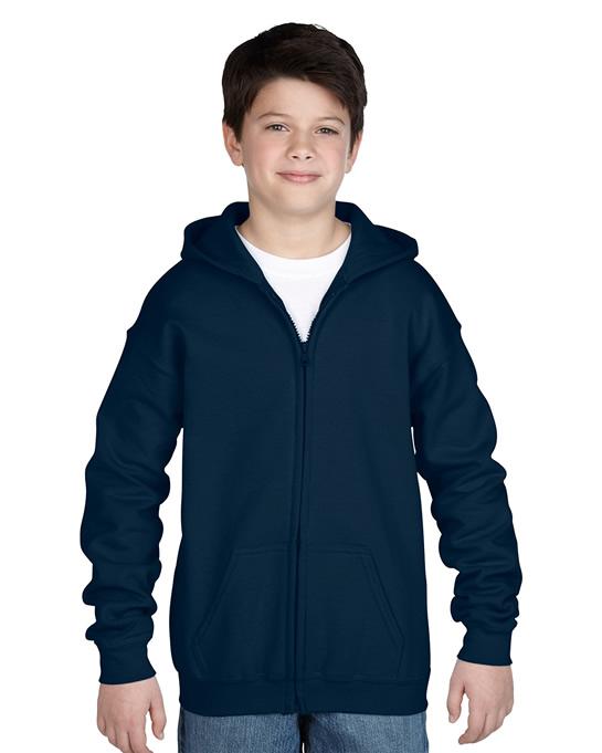 Bluza Heavy Blend Hooded Full Zip Youth GILDAN B1860 - Gildan_B18600_05 - Kolor: Navy
