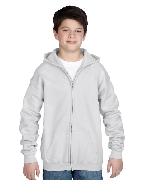 Bluza Heavy Blend Hooded Full Zip Youth GILDAN B1860 - Gildan_B18600_09 - Kolor: White