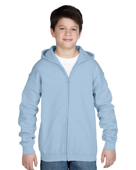 Bluza Heavy Blend Hooded Full Zip Youth GILDAN B1860 - Gildan_B18600_04 - Kolor: Light blue