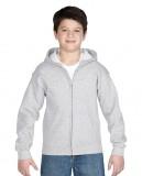 Bluza Heavy Blend Hooded Full Zip Youth GILDAN B1860 - Gildan_B18600_01 Ash