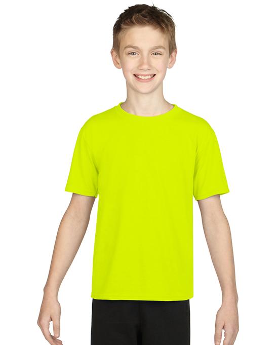 Koszulka Performance Youth GILDAN B42000 - Gildan_B42000_01 - Kolor: Safety green