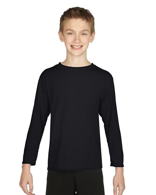 Koszulka Performance Long Sleeve Youth GILDAN B42400 - Gildan_B42400_02 - Kolor: Black