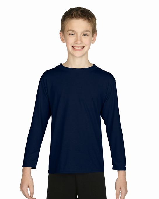 Koszulka Performance Long Sleeve Youth GILDAN B42400 - Gildan_B42400_03 - Kolor: Navy
