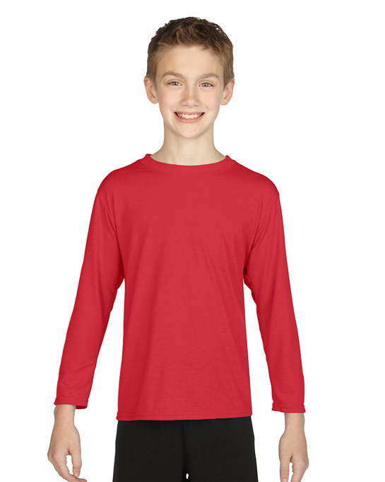 Koszulka Performance Long Sleeve Youth GILDAN B42400 - Gildan_B42400_04 - Kolor: Red