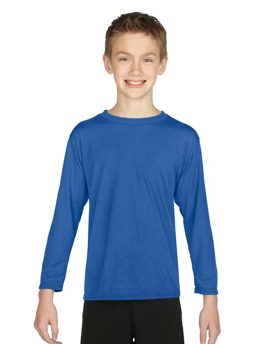 Koszulka Performance Long Sleeve Youth GILDAN B42400 - Gildan_B42400_01 - Kolor: Royal blue