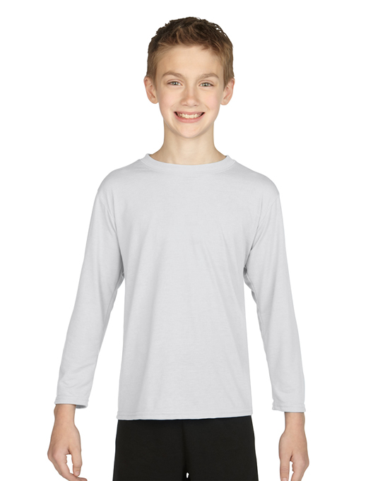 Koszulka Performance Long Sleeve Youth GILDAN B42400 - Gildan_B42400_06 - Kolor: White