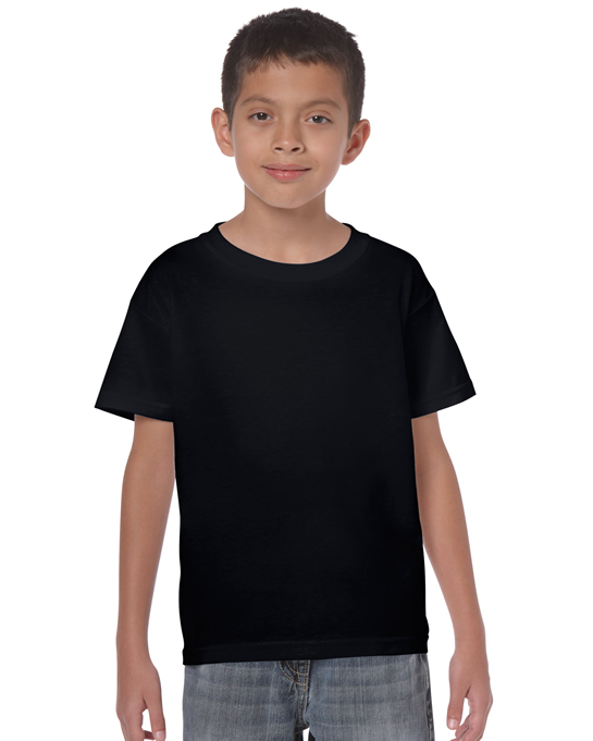 Koszulka Heavy Cotton Youth GILDAN B5000 - Gildan_B5000_03 - Kolor: Black