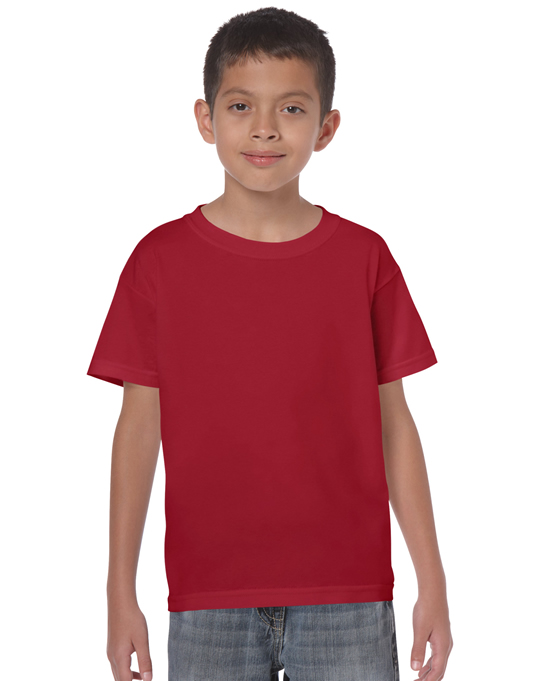 Koszulka Heavy Cotton Youth GILDAN B5000 - Gildan_B5000_04 - Kolor: Cardinal red
