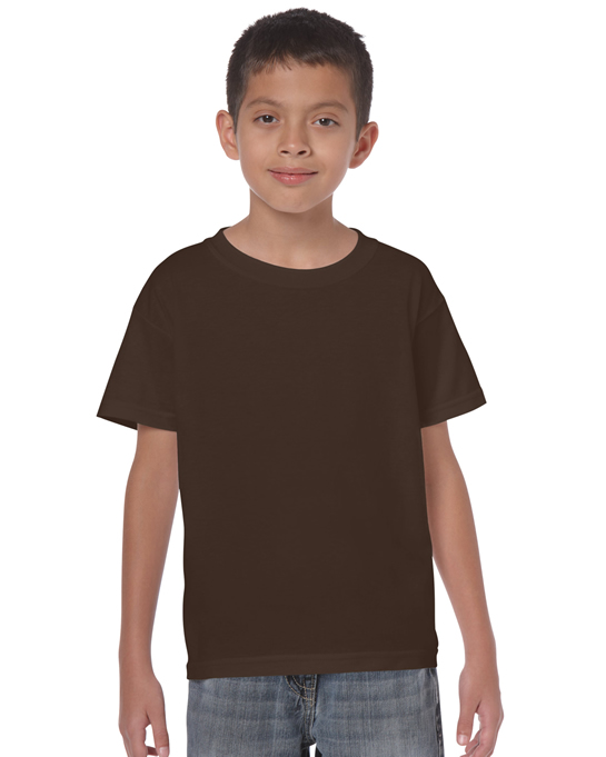 Koszulka Heavy Cotton Youth GILDAN B5000 - Gildan_B5000_08 - Kolor: Dark chocolate