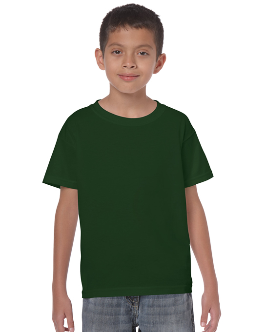 Koszulka Heavy Cotton Youth GILDAN B5000 - Gildan_B5000_09 - Kolor: Forest green