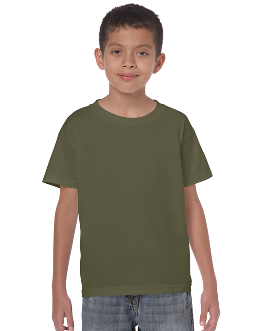Koszulka Heavy Cotton Youth GILDAN B5000 - Gildan_B5000_19 - Kolor: Military green