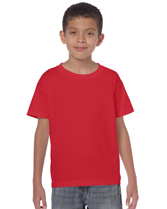 Koszulka Heavy Cotton Youth GILDAN B5000 - Gildan_B5000_25 - Kolor: Red