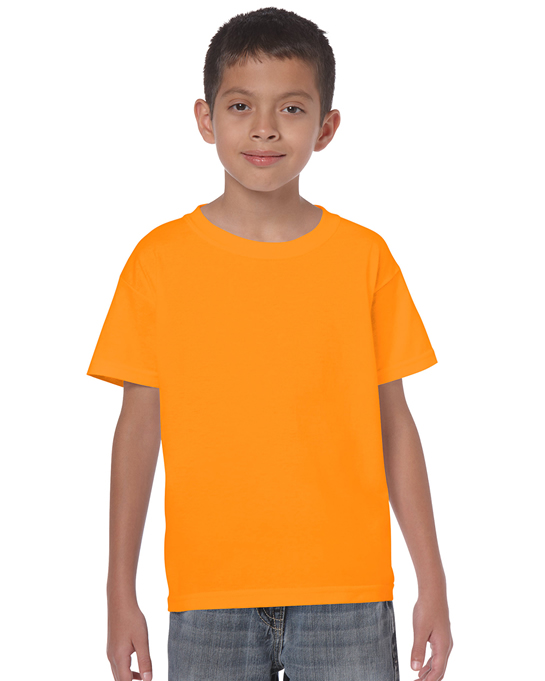 Koszulka Heavy Cotton Youth GILDAN B5000 - Gildan_B5000_30 - Kolor: Tangarine