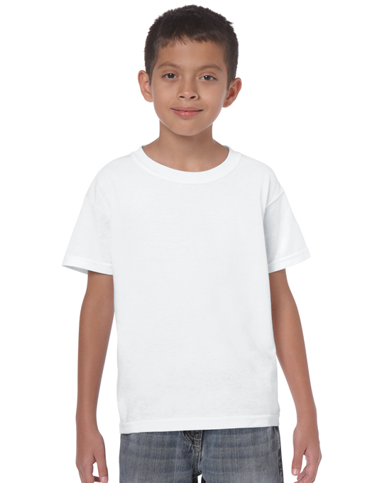 Koszulka Heavy Cotton Youth GILDAN B5000 - Gildan_B5000_32 - Kolor: White