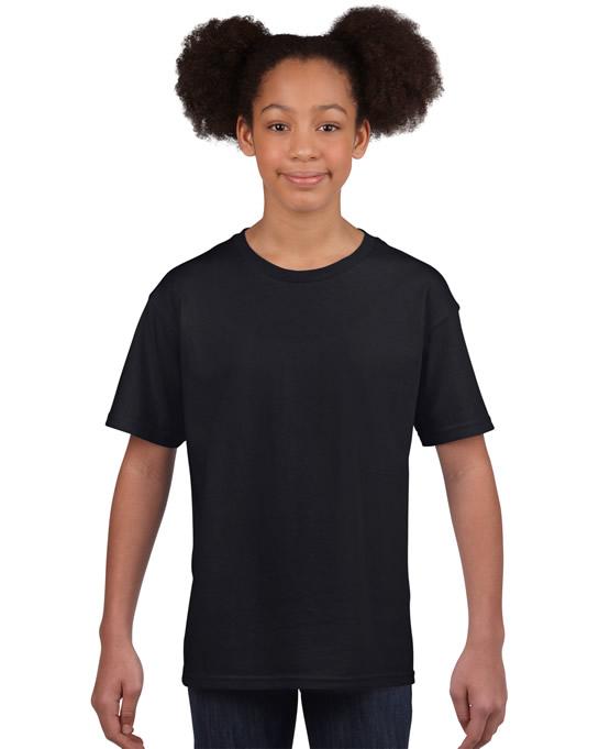 Koszulka Softstyle Youth GILDAN B64000 - Gildan_B64000_02 - Kolor: Black