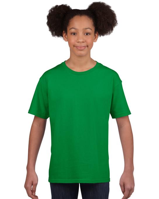 Koszulka Softstyle Youth GILDAN B64000 - Gildan_B64000_07 - Kolor: Irish green