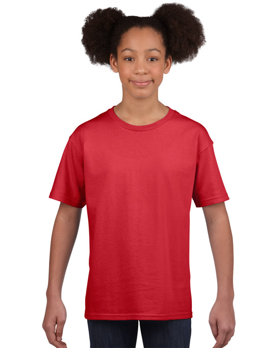 Koszulka Softstyle Youth GILDAN B64000 - Gildan_B64000_14 - Kolor: Red