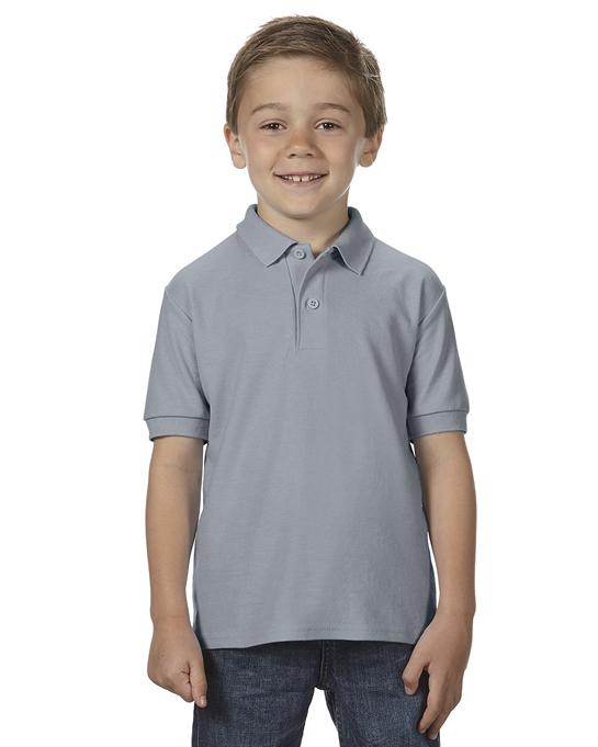 Koszulka Polo DryBlend Double Pique Youth GILDAN B72800 - Gildan_B72800_03 - Kolor: Charcoal