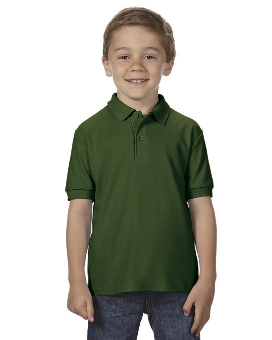 Koszulka Polo DryBlend Double Pique Youth GILDAN B72800 - Gildan_B72800_04 - Kolor: Forest green