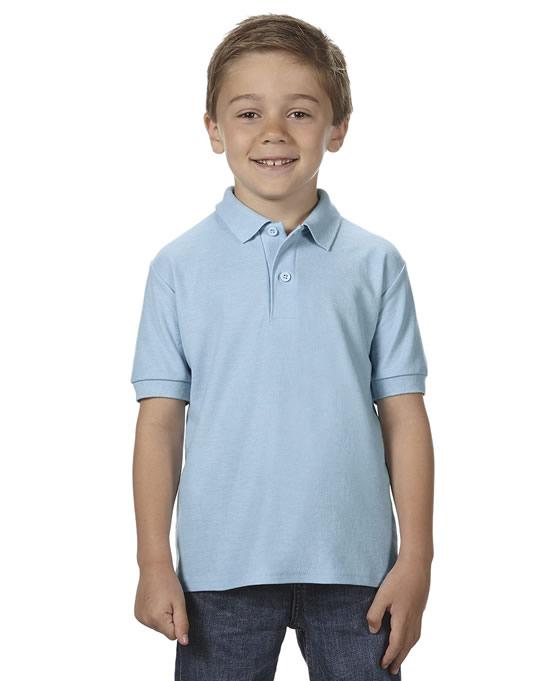Koszulka Polo DryBlend Double Pique Youth GILDAN B72800 - Gildan_B72800_05 - Kolor: Light blue