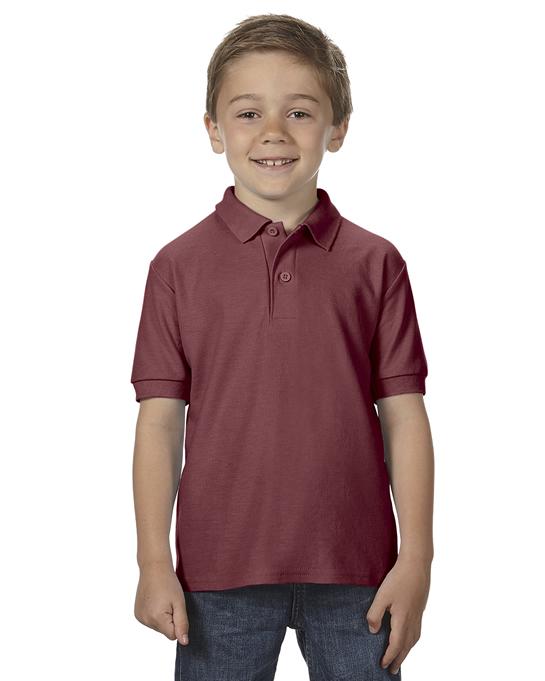 Koszulka Polo DryBlend Double Pique Youth GILDAN B72800 - Gildan_B72800_06 - Kolor: Maroon