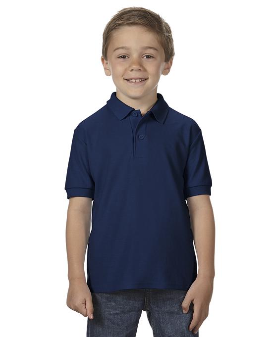 Koszulka Polo DryBlend Double Pique Youth GILDAN B72800 - Gildan_B72800_07 - Kolor: Navy