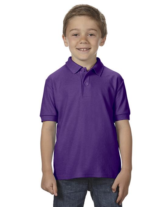 Koszulka Polo DryBlend Double Pique Youth GILDAN B72800 - Gildan_B72800_01 - Kolor: Purple