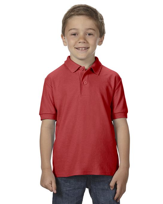 Koszulka Polo DryBlend Double Pique Youth GILDAN B72800 - Gildan_B72800_08 - Kolor: Red
