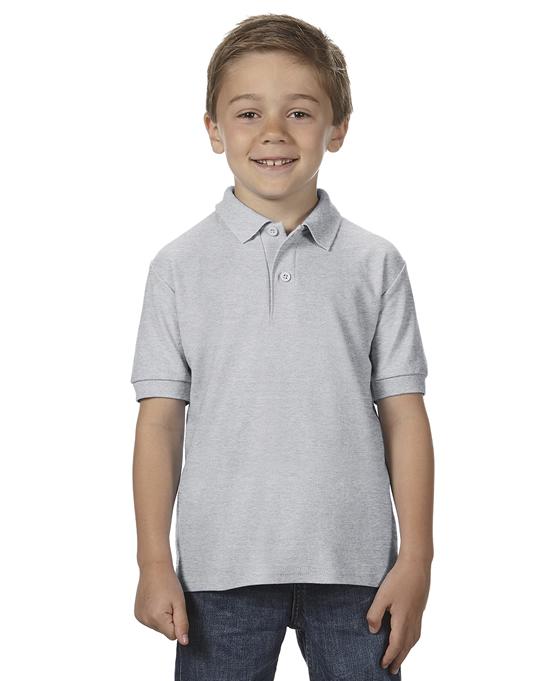 Koszulka Polo DryBlend Double Pique Youth GILDAN B72800 - Gildan_B72800_10 - Kolor: Sport grey