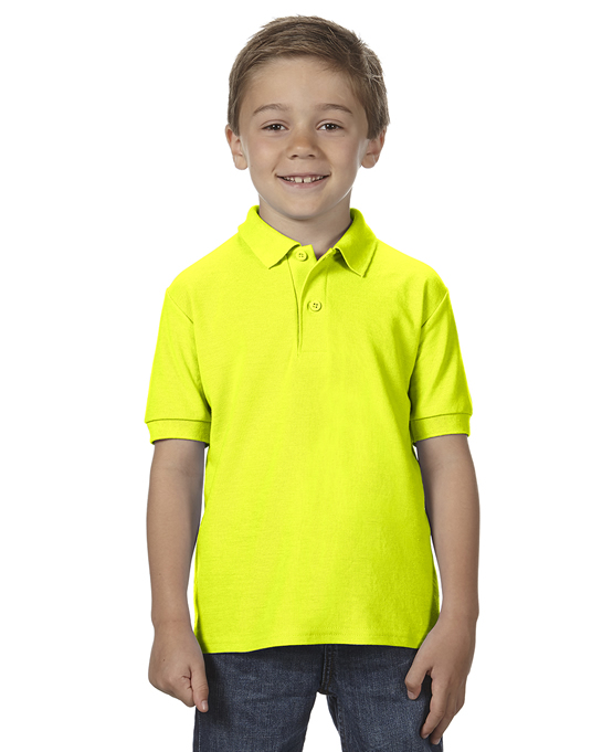Koszulka Polo DryBlend Double Pique Youth GILDAN B72800 - Gildan_B72800_11 - Kolor: Safety green