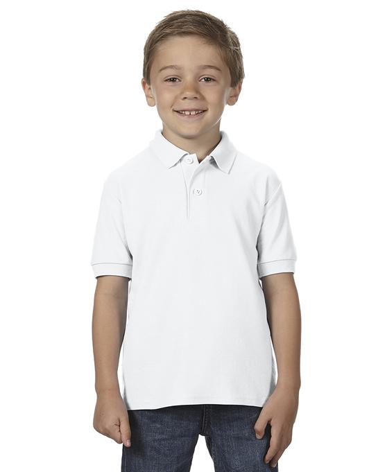 Koszulka Polo DryBlend Double Pique Youth GILDAN B72800 - Gildan_B72800_12 - Kolor: White